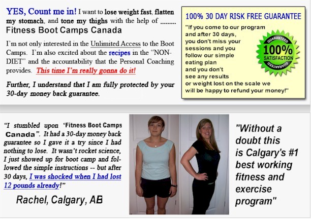 Fitness Boot Camps Canada Money Back Gaurantee!